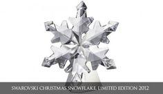 Swarovski Christmas Snowflake, Limited Edition 2012