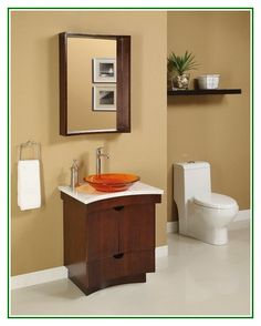 Excellent idea on Small Bathroom Vanities With Dark Brown Cabinets And Stylish Single Sink