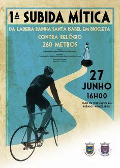 1ª subida Mitica da Ladeira Rainha Santa Isabel em bicicleta