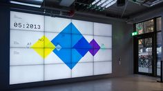 Klarna Data Wall - real-time data visualization by Onformative / 2014