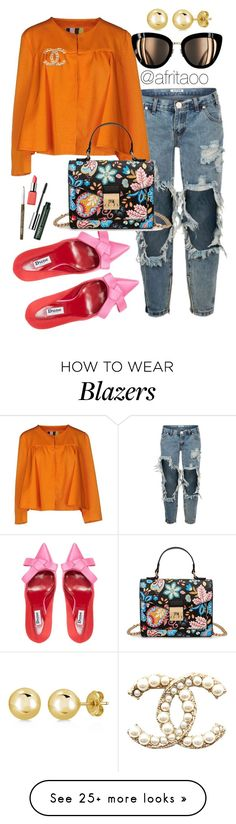 """""""Sin título #241"""" by afritaoo on Polyvore featuring OneTeaspoon, MSGM, John Lewis, BERRICLE and Clinique"""