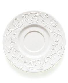 Lenox Dinnerware, Opal Innocence Carved Saucer - Fine China - Dining & Entertaining - Macy's