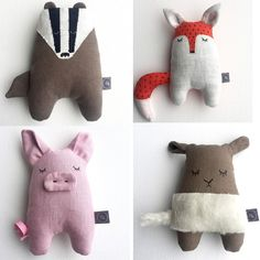 Kleine Freunde / Billoo Boutique Nähen The post Kleine Freunde / Billoo Boutique Nähen Claire C. appeared first on WMN Diy. Sewing Toys, Sewing Crafts, Sewing Projects, Sewing For Kids, Diy For Kids, Felt Crafts, Fabric Crafts, Handmade Stuffed Animals, Animal Sewing Patterns