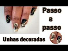 Unhas decoradas borboleta carga dupla Laís Castilho - YouTube