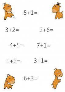 Fun math sheets for kids Kindergarten Worksheets, Worksheets For Kids, In Kindergarten, Math Activities, Addition Facts, Math Addition, Giraffe Facts, English Grammar For Kids, Math Sheets
