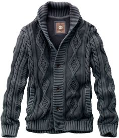 Timberland Men's Earthkeepers Textured Cardigan Sweater