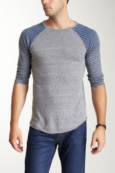 Dirtee Hollywood Optic Square Baseball Tee $22.00