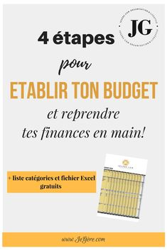 Gestion budgétaire 4 steps to set your budget and get your finances back in your hands you can find similar pins. Faire Son Budget, Win Money, Money Budget, Money Tips, Budget Organization, Budget Binder, Savings Plan, Budgeting Finances, Budgeting Tips