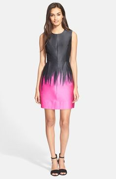 Milly 'Coco' Ombré A-Line Dress available at #Nordstrom