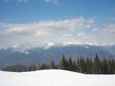 Aprica, Italy. Panoramica ski slope.