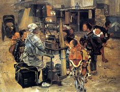 Candy Man by Charles Wirgman, 1877 (British painter, painting of Japanese life)