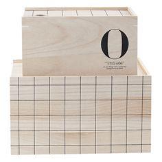 O Storage säilytyslaatikko, House Doctor. Kaksi käytännöllistä, puusta valmistettua laatikkoa. Isomp...