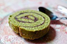 Gâteau roulé au thé vert et haricot rouge (matcha et azuki) Recette - Chocolate & Zucchini en VF