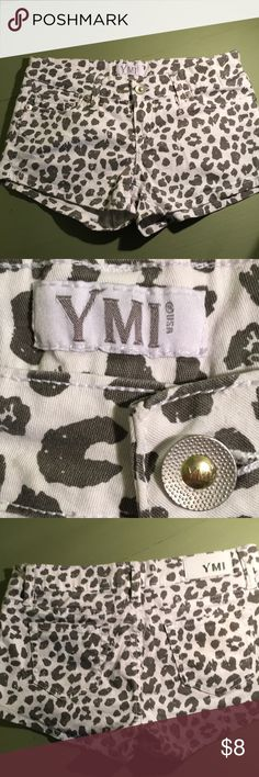 YMI shorts size 3 Snow Leopard print shorts by YMI YMI Shorts Jean Shorts