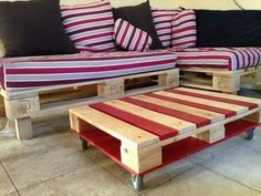 Euro pallets table practical and functional model
