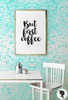 Watercolor Wall Mural Removable Wallpaper Turquoise by Livettes