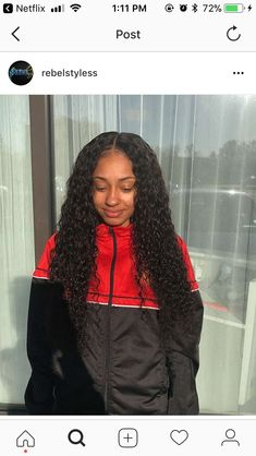 ⚠️ is the plug for more boppin' ass pins ⚡️ Long Curly Hair, Curly Hair Styles, Natural Hair Styles, Deep Curly, Weave Hairstyles, Pretty Hairstyles, Natural Hair Weaves, Hair Laid, Remy Hair