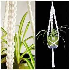 Hanging Planter // Customized Macrame Plant by TheVintageLoop