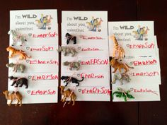"""Wild Kratts themed Valentines for my 4 1/2 year old. """"I'm WILD about you, Valentine!"""""""