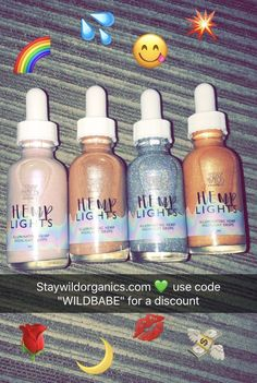 Hemp lights liquid highlight drops from staywildorganics.com #beauty #cosmetics #makeup