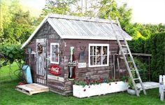 Wooden kids hut