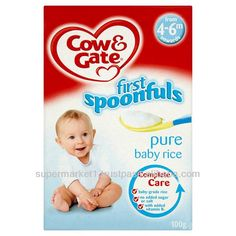 Cow & Gate Pure Baby Rice - 4 Months + Onwards Breakfast Cereal