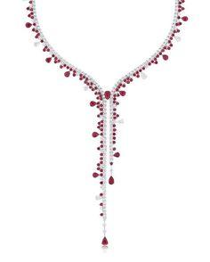 Stenzhorn. Venus. Rubies and diamonds necklace.