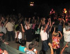 All the Baby Boomers out rockin' to the beats of Sargent Pepper -- Beatles cover band. At Farnsworth Park!. — in Altadena.
