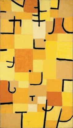 PAUL KLEE, Zeichen in Gelb (Sign in Yellow, 1937). Oil on canvas. Courtesy of the Beyeler Foundation.