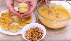 """Prăjiturile """"Piersicile"""" — o adevărată capodoperă culinară! - Retete Usoare Cereal, Pudding, Breakfast, Desserts, Food, Morning Coffee, Tailgate Desserts, Deserts, Eten"""