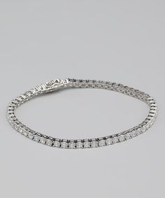 Take a look at this Cubic Zirconia & Sterling Silver Tennis Bracelet by Jewelry Like the Rich on #zulily today!