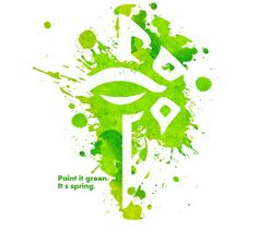 Paint it Green! Ingress Enlightened, Green, Anime, Blue, Painting, Painting Art, Anime Shows, Paintings, Paint