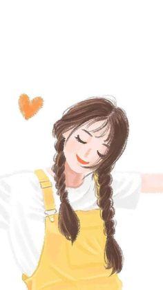 Cartoon Girl Images, Cute Cartoon Girl, Cartoon Girl Drawing, Cartoon Art Styles, Cartoon Drawings, Cute Drawings, Anime Backgrounds Wallpapers, Cute Cartoon Wallpapers, Cute Girl Illustration