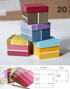 Paint chip box tutorial by How About Orange