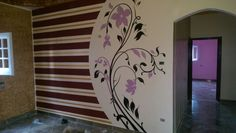 Creative Wall Painting, Diy Wall Painting, Creative Walls, Tree Design On Wall, House Front Wall Design, Accent Walls In Living Room, Girl Bedroom Designs, Wall Decor Stickers, Room Interior
