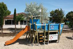 Kinder-Spielplatz Holzhof KALUBA Piratenschiff Kletterberüst Holzschiff - Die vielen Spielmöglichkeiten lassen Kinderherzen höher schlagen