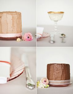 DIY cake with ribbon round the base