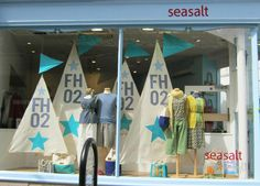 Harbour sails window display in Seasalt Falmouth shop