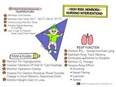 High Risk Newborn Nursing Interventions #nursing