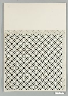 cinoh:  (via The Metropolitan Museum of Art - BAUHAUS ARCHIVE) Gertrud Preiswerk  (German (born Swiss), Basel 1902-1994) Classification: Textiles Credit Line: Gift of Jack Lenor Larsen Incorporated, 1985 Accession Number: 1985.198.48