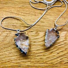 Clear Quartz Silver arrowhead – Crystal HarMENy By Calum Clear Quartz, Dog Tag Necklace, Feather, Pendant Necklace, Crystals, Mini, Silver, Jewelry, Quill