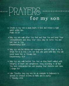 Yes I pray this prayer for my precious son Isaac.In Jesus Name Amen! Prayer Times, Prayer Scriptures, Bible Prayers, Short Prayers, Power Of Prayer, My Prayer, Son Quotes, Bible Quotes, Qoutes