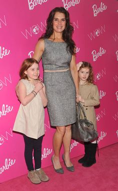 Brooke Shields and her daughters The model and her two daughters, Rowan and Grier, walk the pink carpet to enter Barbie's dream house at the Dream Closet Fashion Week event. Photo courtesy of Diane Bondareff/AP Images for Mattel.