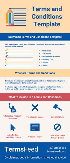 51 best Terms and Conditions images on Pinterest