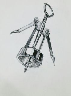 cork opening  art drawing Ap Drawing, Metal Drawing, Drawing Sketches, Copic Sketch, High School Art Projects, Marker Art, Pencil Art, Pencil Drawings, Sketch Design