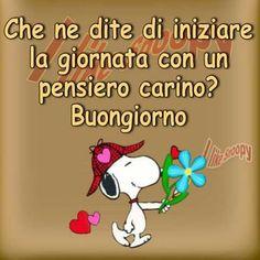 Italian Memes, Snoopy Love, Good Morning, Cards, Fictional Characters, Peanuts, Alba, Twitter, Friends