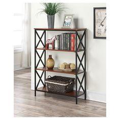 Tucson 4 Tier Bookcase - Convenience Concepts : Target