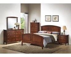 5 Piece Queen Bedroom Set   Whiskey Brown Finish   Sam Levitz Furniture