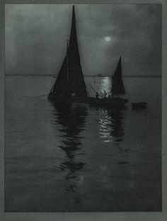 ALVIN LANGDON COBURN, b.1882-1966.  Photogravure, c. 1907.    The Star