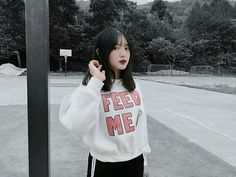 Korean Ulzzang, Ulzzang Girl, Something Beautiful, Overlays, Cool Girl, Asian Girl, Bomber Jacket, Boys, Girls